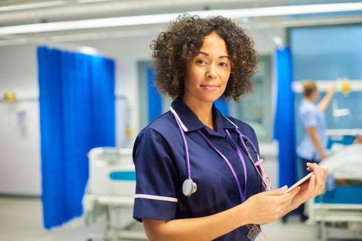 NHS nurse with ethnic minority background