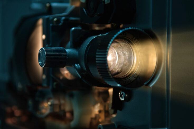8 mm film projector