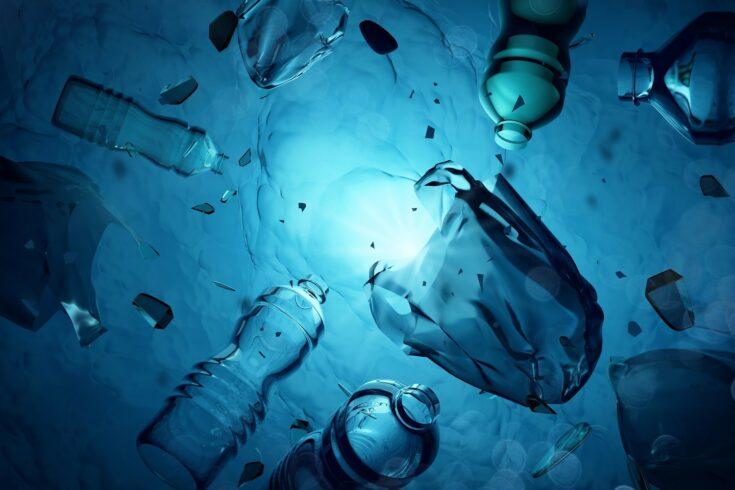 Underwater plastic waste