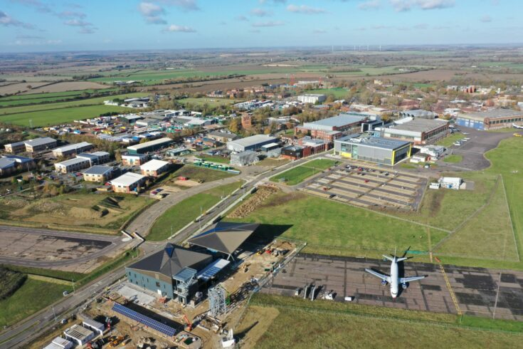 DARTeC and Cranfield University campus from above