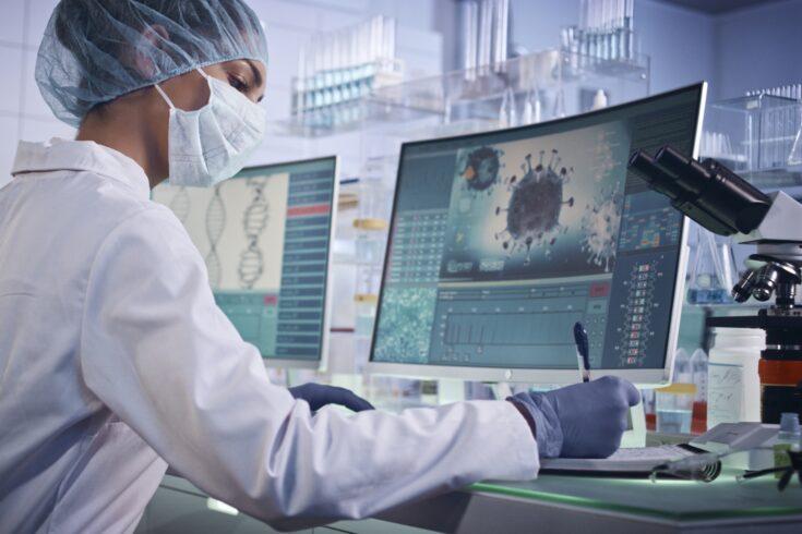 Laboratory team working on coronavirus vaccine
