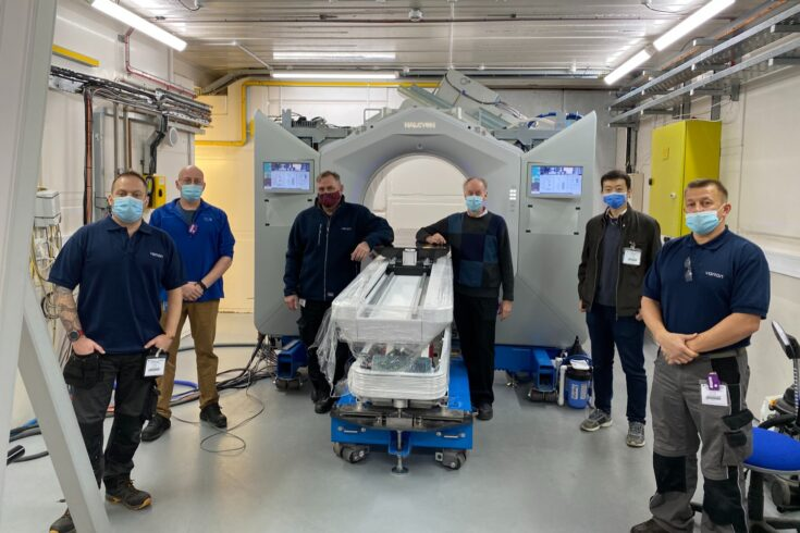 The STFC and Varian team training at new facility.