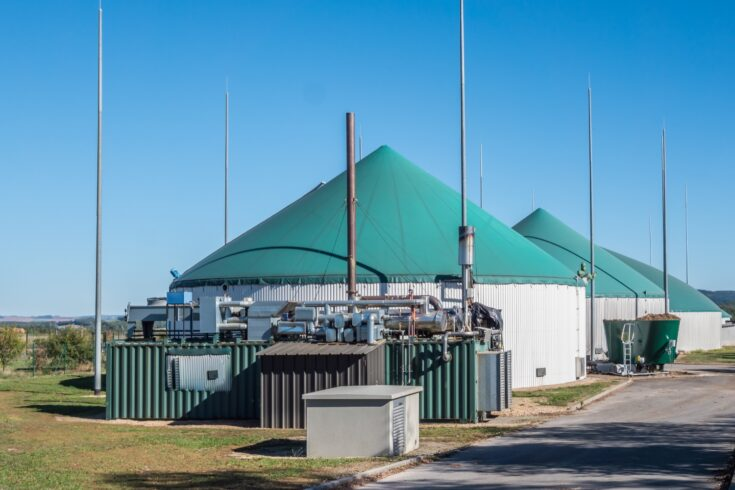 Industrial biogas plant