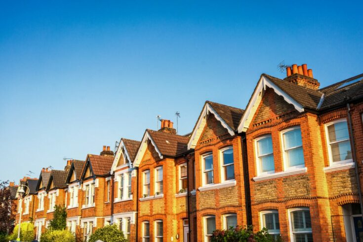 Terraced Victorian houses in London