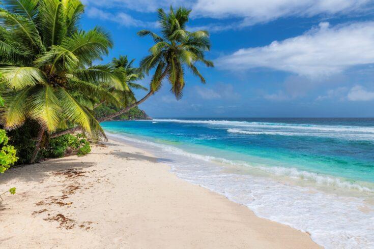 A tropical beach in South East Asia