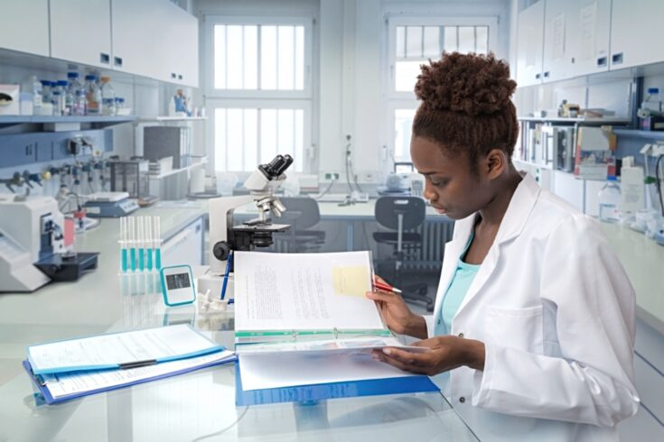 Diverse research scientist in a laboratory