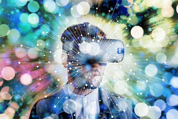 Virtual reality headset - illustration