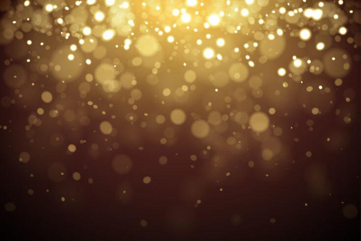 Golden shiny sparkling glittering background vector illustration