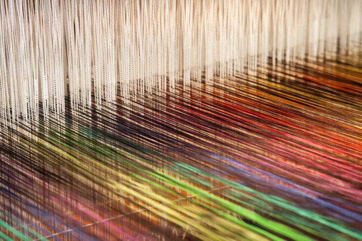 Loom weaving textiles