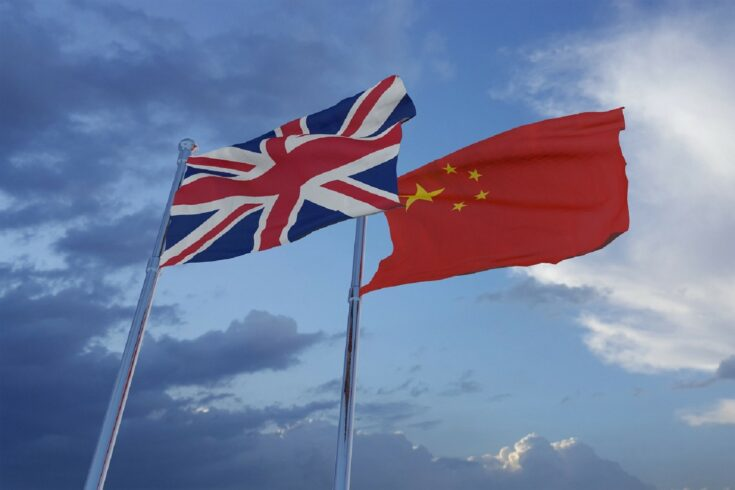 UK and China flags
