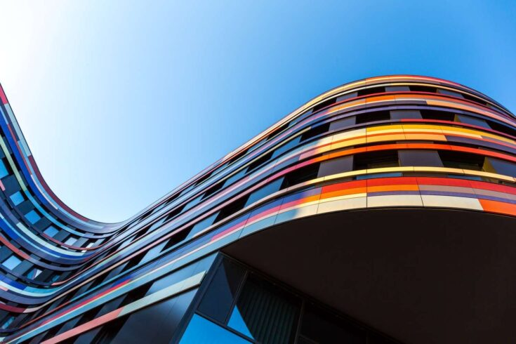 Modern curved building architecture