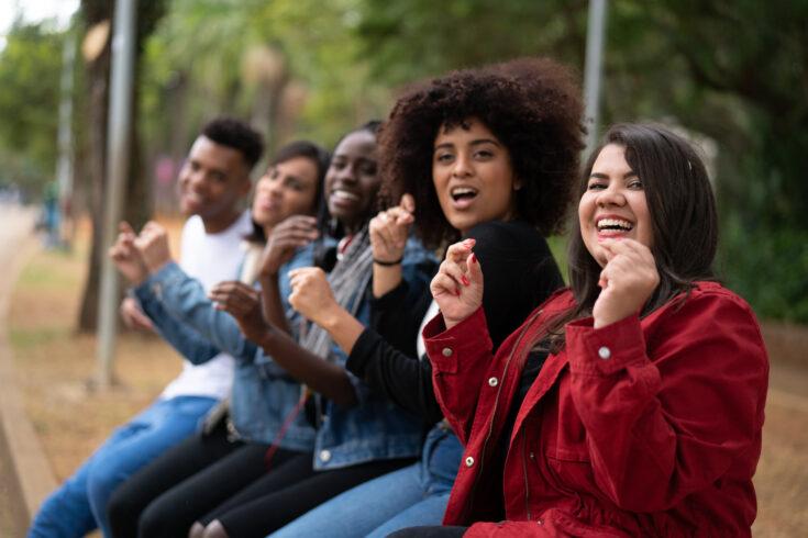 Group of Diverse Having Fun at Park