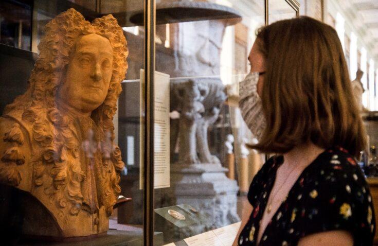 Terracotta portrait bust of Sir Hans Sloane by Michael Rysbrack