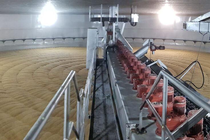 Circular malting of barley