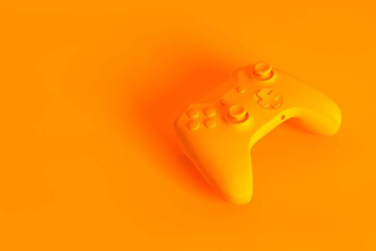 Orange gamepad controller