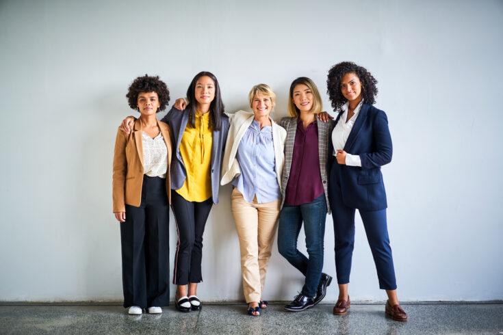 Confident multi-ethnic businesswomen at office